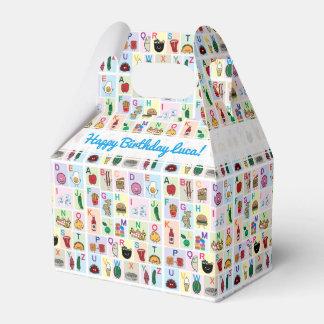 El alfabeto de ABC que aprende las comidas felices Caja Para Regalos
