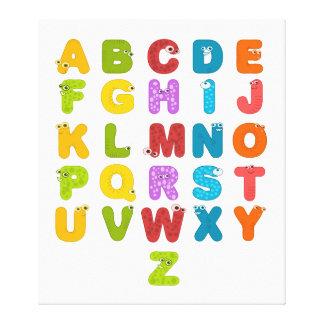El alfabeto de los niños impresión en lienzo