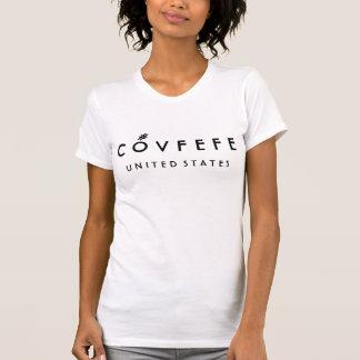 El algodón blanco de las mujeres divertidas de camiseta