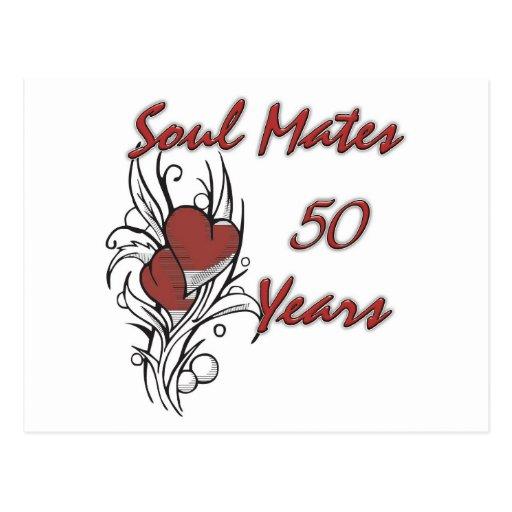 El alma acopla 50 años tarjeta postal