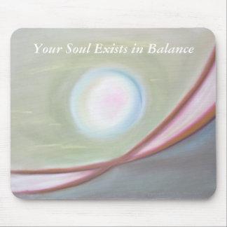 El alma existe en equilibrio alfombrilla de ratón