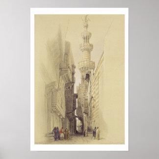 El alminar de la mezquita del EL Rhamree, El Cairo Posters