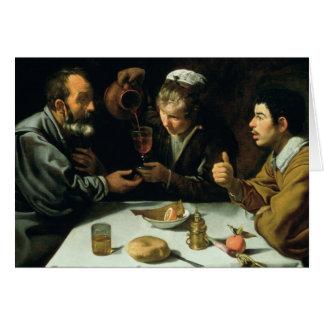 El almuerzo, 1620 tarjeta