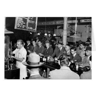 El almuerzo Counter 1950 de Pete Felicitación