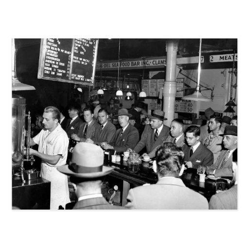 El almuerzo Counter, 1950 de Pete Postales