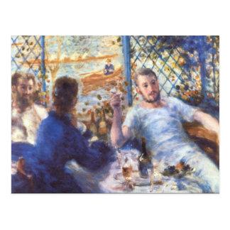 El almuerzo de los Rowers de Pedro Renoir Postal