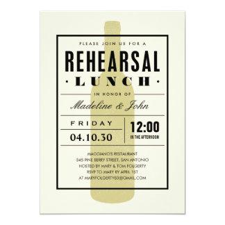 El almuerzo del ensayo del vino invita con un invitación 12,7 x 17,8 cm