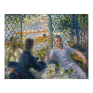 El almuerzo del Rower de Pierre-Auguste Renoir Invitación 10,8 X 13,9 Cm