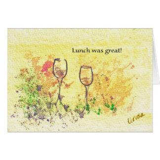 El almuerzo era grande - modificado para tarjeta