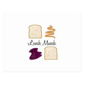 El almuerzo masca postal