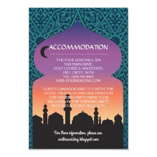 El alojamiento carda casar noches árabes invitación 8,9 x 12,7 cm