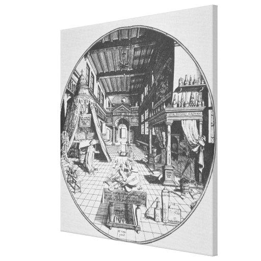 El alquimista en su laboratorio, de 'Amphitheatr Lienzo Envuelto Para Galerías