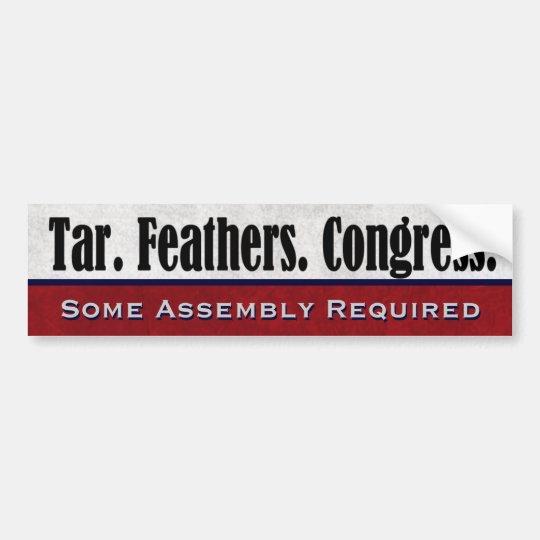 El alquitrán empluma al congreso que un poco de pegatina para coche
