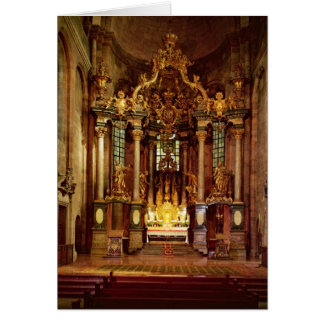 El alto altar en el coro del este tarjeta