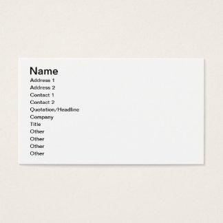 El alto de la familia de un patán, platea 17 del tarjeta de negocios