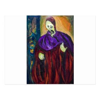 El alto sacerdote (retrato del expresionismo) postal