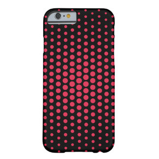 El amaranto Techno puntea negro moderno Funda De iPhone 6 Barely There