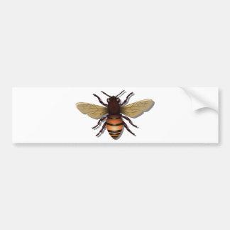 El amarillo adaptable manosea la abeja pegatina para coche