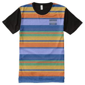 El amarillo anaranjado de los azules de los camiseta con estampado integral