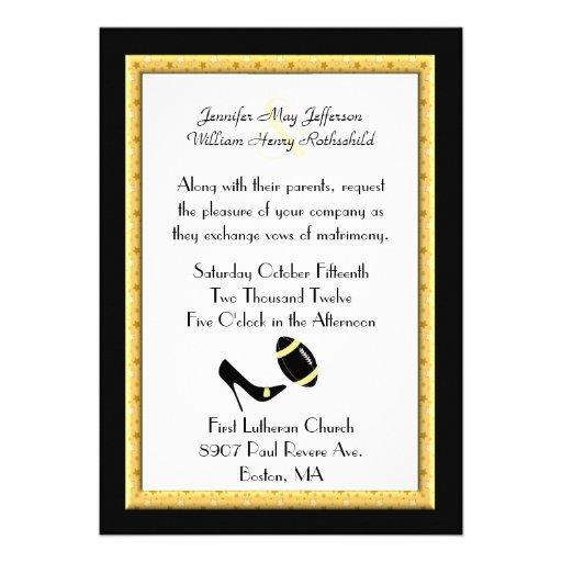 El amarillo protagoniza la invitación del boda del