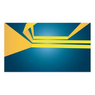 El amarillo triple abstracto raya la disposición tarjetas de visita