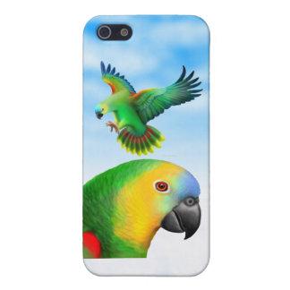 El Amazonas afrontado azul repite mecánicamente el iPhone 5 Cárcasas