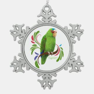 El Amazonas afrontado blanco Adorno De Peltre En Forma De Copo De Nieve