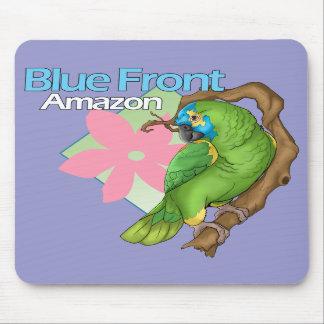 El Amazonas delantero azul Mousepad Alfombrillas De Ratón