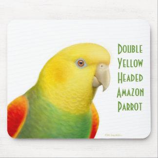 El Amazonas dirigido amarillo doble Mousepad