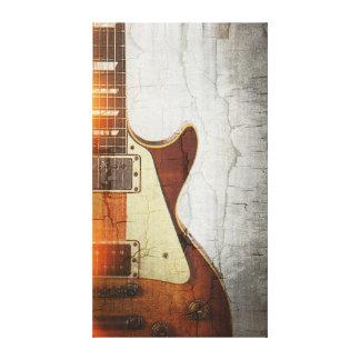 El ambiente 1 de la guitarra - escoja el corte 59 impresión en lienzo