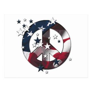 El americano del signo de la paz protagoniza y postal