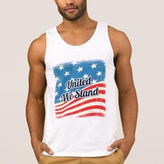 El americano nos unió coloca la bandera camiseta de tirantes