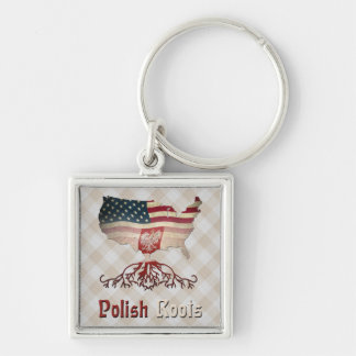 El americano polaco arraiga el llavero