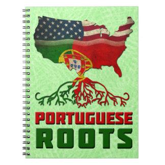 El americano portugués arraiga la libreta