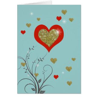 el amor adorna tarjeta de felicitación