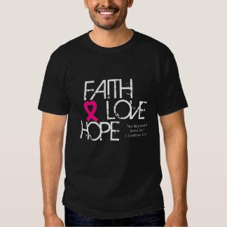 El amor. .and de la esperanza de la fe el más camisetas
