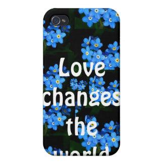 El amor cambia el mundo iPhone 4 fundas