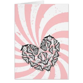 El amor conquista la tarjeta del odio (retrato)