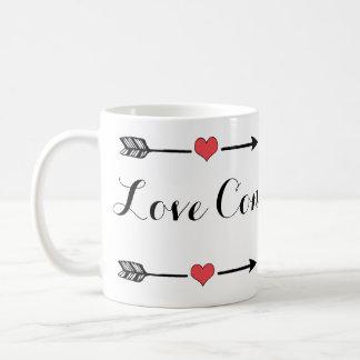 El amor conquista toda la taza de café