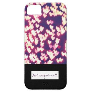 El amor conquista todo el caso iPhone 5 cárcasa