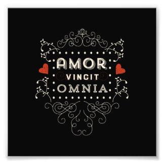 El amor conquista todos - la tipografía latina del impresión fotográfica