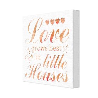 El amor crece en la impresión estirada las
