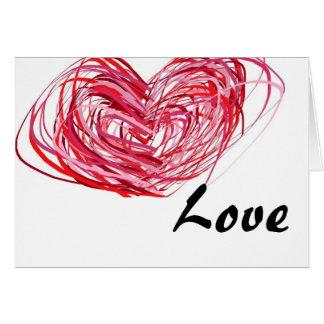 El amor crece una tarjeta de felicitación más prof