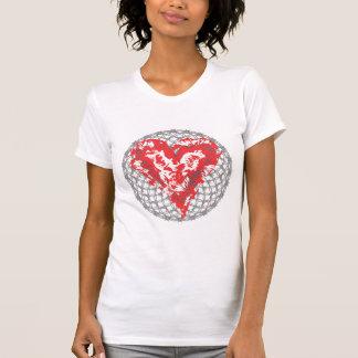 El amor daña la camisa del Grunge - corazón