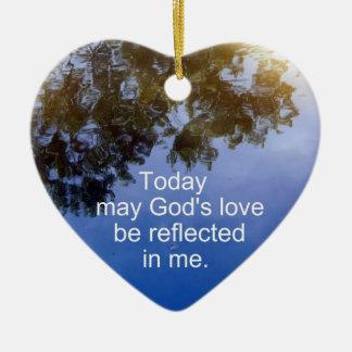 El amor de dios… adorno de cerámica en forma de corazón