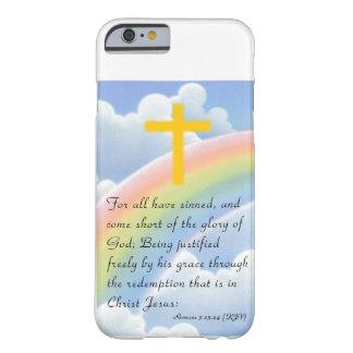 El amor de dios con el caso cruzado del iPhone 6 Funda De iPhone 6 Barely There