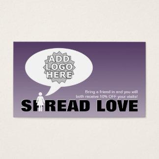 el amor de la extensión refiere una figura del tarjeta de visita