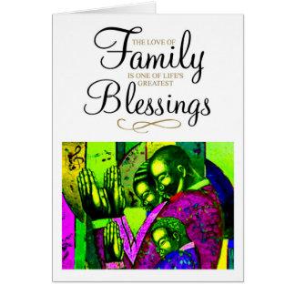 El amor de la familia tarjeta