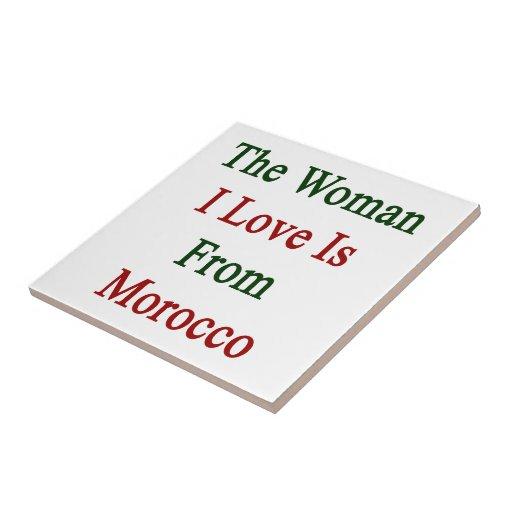 El amor de la mujer I es de Marruecos Tejas Cerámicas