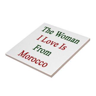 El amor de la mujer I es de Marruecos Azulejo Cuadrado Pequeño